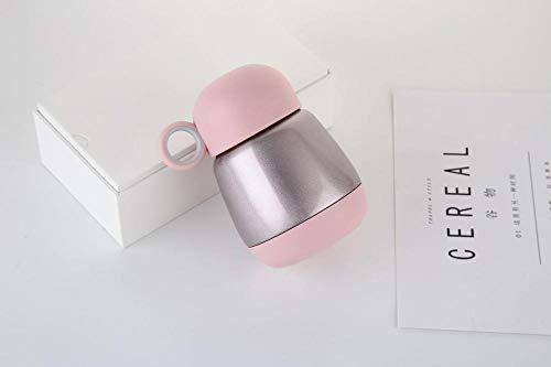 TUSHUXIAO Kaffeekannen,Reisebecherthermoskanne Big Belly Isolation Cup Damen Cover Mini Tragbare Doppel Vakuum Edelstahl Thermoskanne@Rot_Metallfarbe 250Ml