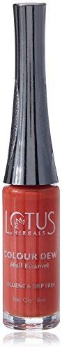 Lotus Herbals Colour Dew Nail Enamel, Orange Alert, 7ml