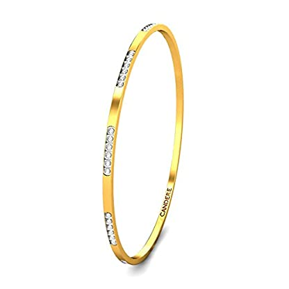 Candere By Kalyan Jewellers Contemporary Collection 22k Yellow Gold Trisa Bangle