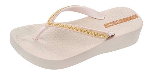 Ipanema Mesh Wedge Frauen Flip-Flops/Sandalen-Ivory-38 Platform Wedge Flip Flop