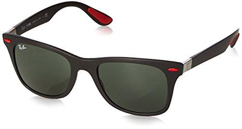 Ray-Ban Junior Herren 0RB4195M F60271 52 Sonnenbrille, Matte Black/Darkgreen,