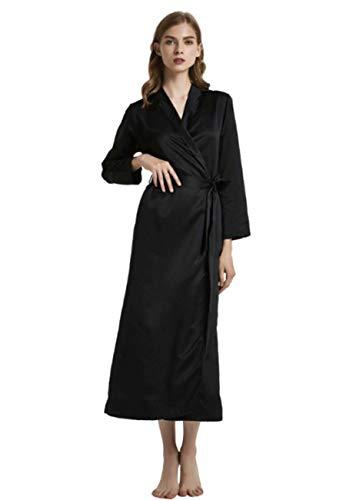 GL SUIT Las Mujeres de la Bata de satén Traje del Kimono Primavera y el Verano Camisón Albornoz Atractiva...