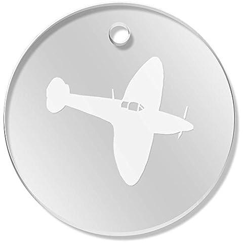11 x 34mm 'Avion Spitfire' pendentif transparent (PN00022600)