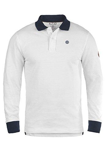 BLEND Ralle 20703709ME Poloshirt , Größe:M;Farbe:White (70002) -