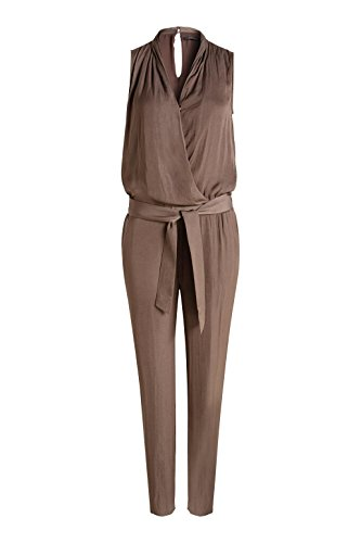 ESPRIT Collection Damen Jumpsuits 056EO1L001-Luftig Lockerer Fall, Braun (Taupe 240), W30/L32 (Herstellergröße: 40) - 3
