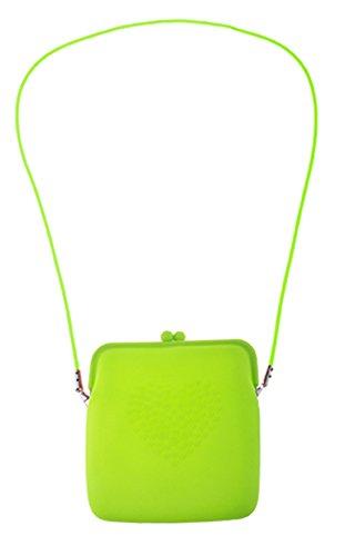 erdbeerclown - Kostüm Accessoire- Neon- Handtasche- Umhängetasche, 18cm, Neongrün