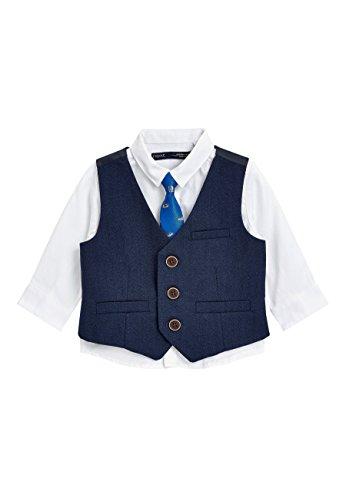next Bimbo Completo Camicia, Gilet E Cravatta Con Automobile (3 Mesi-6 Anni) Blu Navy 6-9 Mesi