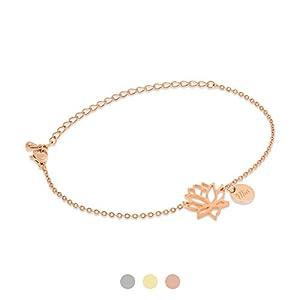 Armband Lotusblume mit Gravur | Farbe Silber | Personalisierte Geschenke | Individuelle Wunschgravur | Personalisierter…