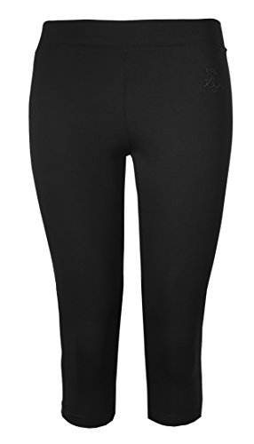 Brody & Co. Damen Leggings Damen Crop Capri Hose 3/4 Gym zugeschnitten Leggins Dance Yoga Gr. Medium/Large, schwarz -