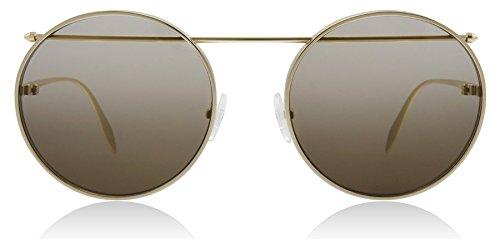 Alexander McQueen Sonnenbrillen AM0137S Gold/Brown Shaded Unisex