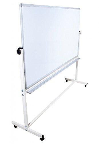 Mobile Whiteboard Tafel beidseitig beschriftbar,in 2 Größen, schutzlackiert, magnethaftend, mit gratis Zubehör (Stifte,Schwämme,Magnete), Größe:120x90 cm Zwei Mobile