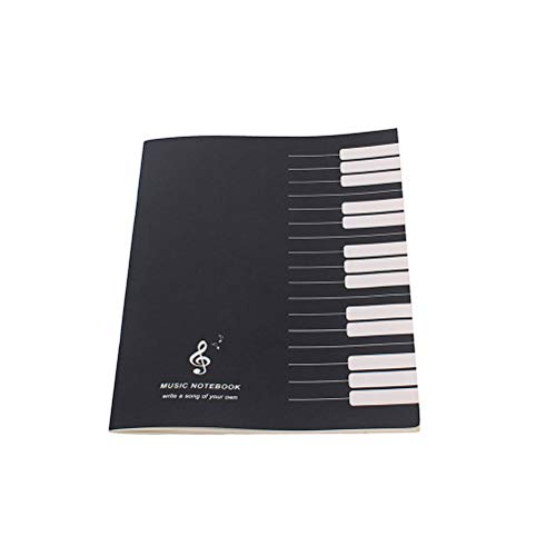 SUPVOX Cuaderno de música con tapa blanda Pestañas Libro Oficina Papelería escolar Regalo para estudiantes Amante de la música (Negro)