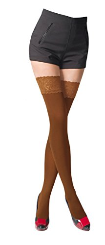 NEW Lace Top 80 Denier Sheer Hold-Ups Stockings by Romartex , 9 Various Colours- Sizes S-XL Test