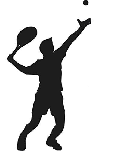 EmmiJules Wandtattoo Tennis Spieler - Made in Germany - in verschiedenen Größen und Farben -️ Kinderzimmer Junge Wandsticker Wandaufkleber Wohnzimmer Sport Tennisverein (100cm x 60cm, schwarz) (Tennis-spieler)