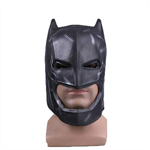 Kostüm Superman Latex - GanSouy Batman v Superman: Morgendämmerung der Gerechtigkeit, Batman-Maske, Batman-Maske, Cosplay-Maske - Perfekt für Karneval und Halloween - Kostüm für Erwachsene - Latex, Männer,58cm~62cm