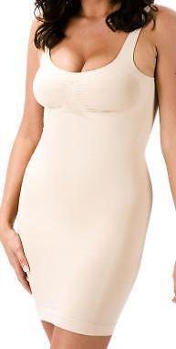 Bodyfit vestito pieno di slittamento corpo shaper con le cinghie di beige medium 40-42 eu