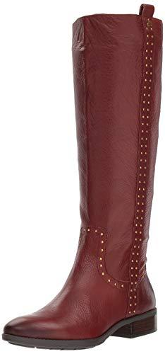 Sam Edelman Women's Prina Knee High Boot, Redwood Brown Leather, 6.5 W US - Brown Knee High Boots
