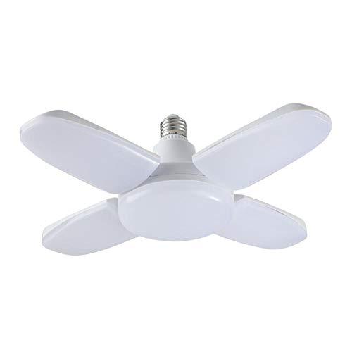 xiangpian183 60W Garagenlampe Faltlüfter 4-flügeliges Licht für Haushaltsglühlampen, Energiesparlampen, Deckenventilatoren mit Lampe