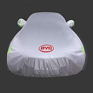 JLZS-Car Covers BYD Song/Song Max/Tang Wasserdichte Sonnencreme Auto Schutzabdeckung Qin/Qin Pro / F3 staubdicht und Winddicht Autokleidung (Farbe : Have Signs, größe : Qin Pro)