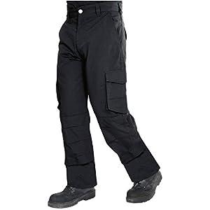 ProLuxe Pantalones Resistentes de Tejido Ripstop, de Tipo Cargo, Combate, con Bolsillo con Cremallera de Seguridad y Bolsillos para Rodillera