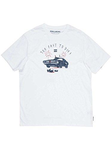 Billabong Herren T-Shirt Black Road Ss White
