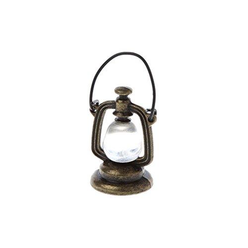 Lamdoo Maßstab 1: 6Öl Lampe Puppenhaus Miniatur Spielzeug Puppe Küche Wohnzimmer Zubehör, Metall, Random1, 2x2x3cm -