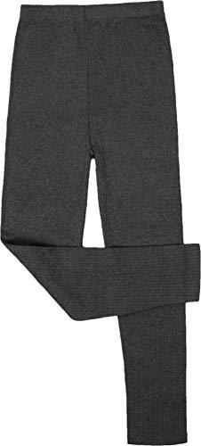 normani Kinder Thermohose für Jungen und Mädchen mit Innenfleece - Lange Unterhose aus ÖkoTex100 Farbe Anthrazit Größe L/152-158