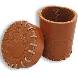 Q-Workshop: Dice Cup - Brown Dragons Leather Cup III