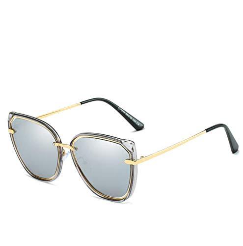 CASEY-L Frauen polarisierte Sonnenbrille, Europa und den Vereinigten Staaten Trend durch die Box Retro Cat Eye Brille UV Visor Mirror New F