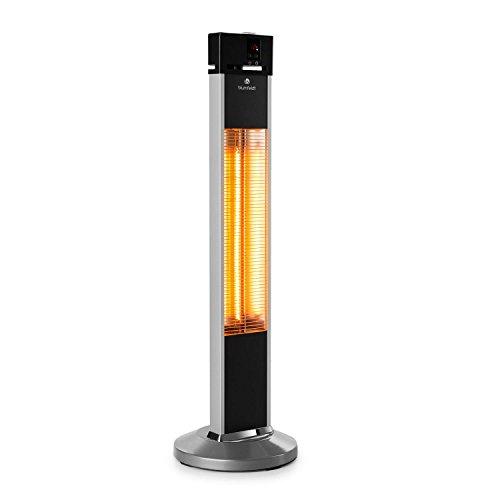 Blumfeldt Heat Guru • Riscaldatore a irraggiamento • Emettitore a infrarossi • 3 impostazioni: 650, 1350 e 2000 Watt • Protezione getti e Spruzzi d'Acqua IP34 • Telecomando • Timer 24h • Argento