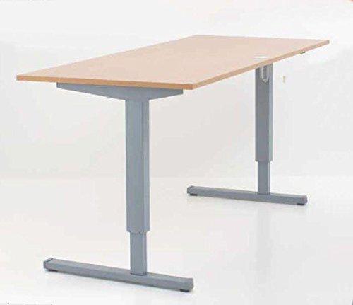 Elektrisch Verstellbarer Schreibtisch mit Tischplatte Buche-Optik 160x80cm