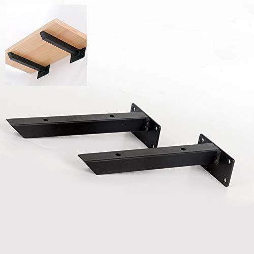 Soporte de estantería - Estante de ángulo Recto Negro para Montaje en...