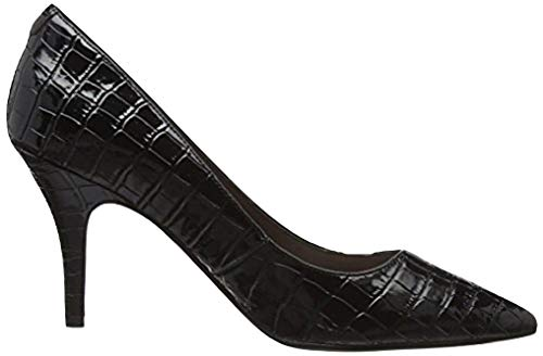 Mid Heel Flex Sole Court Croc Shoe (37 EU/UK 4, Schwarz [Black]) -