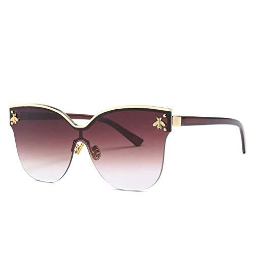 Sport-Sonnenbrillen, Vintage Sonnenbrillen, Cat Eye Little Bee Sunglasses For Women's Retro Men Designer Rimless Sun Glasses For Male Female Grey Blue Shades UV400