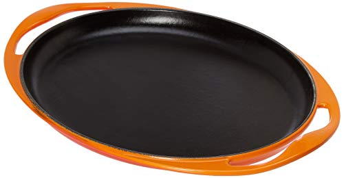 Le Creuset 20128000900460 Grillplatte, oval, Gusseisen emailliert -