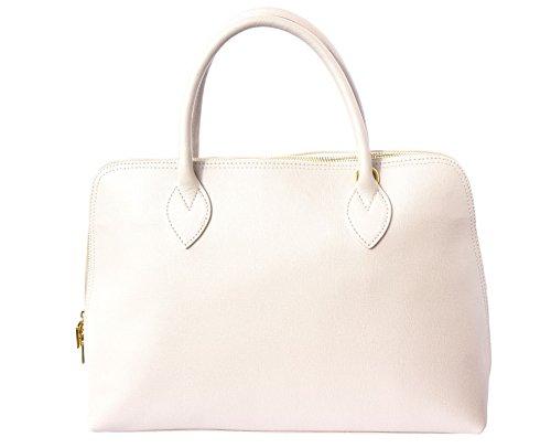 Saffiano Leder Frau Business-Tasche 308 Beige