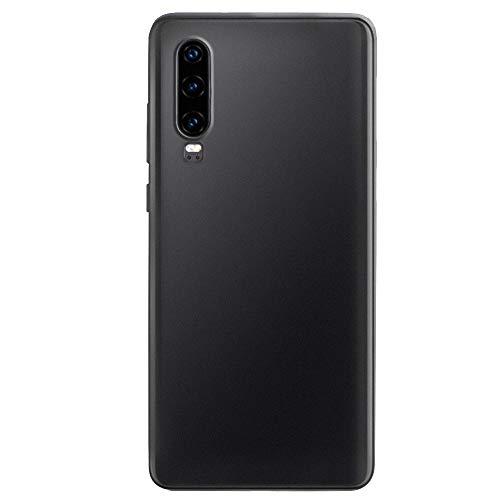 Handyhülle Kompatibel mit Huawei P30 Pro Hülle Hardcase Ultra Dünn Huawei P30 Schutzhülle aus Hart-PC Schlank Case Cover Stoßfest Tasche für Huawei P30 Lite Smartphone Bumper (Schwarz 1, P30 Pro) Schwarz-mobile-skin