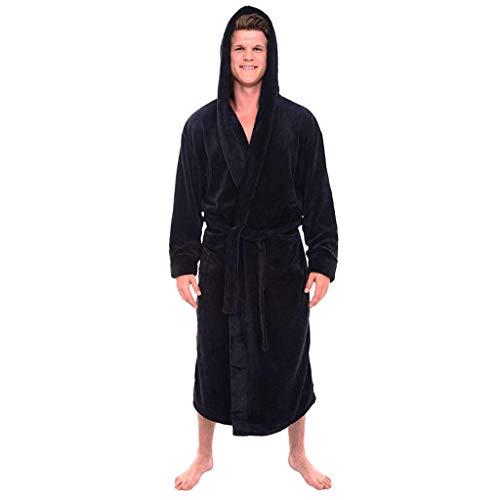 Ears Herren Pyjamas Winter Plüsch verlängert Schal Bademantel Startseite Kleidung langärmelige Robe Mantel Schlafanzug Langarm Sweatshirt Freizeit Strickjacke V-Ausschnitt Bluse Pullover Airborne Sweatshirt