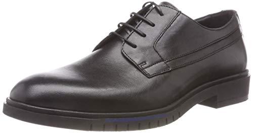Tommy Hilfiger Herren Flexible Dressy Leather Shoe Derbys, Schwarz (Black 990), 41 EU
