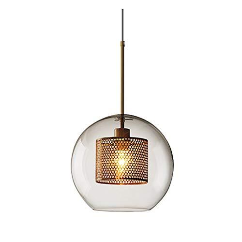Yankuoo Weinlese-industrieller einzelner Hauptleuchter, kreative Metallmaschen-Glaskugel, Esszimmer-Küchen-Schlafzimmer-Beleuchtung E27 -