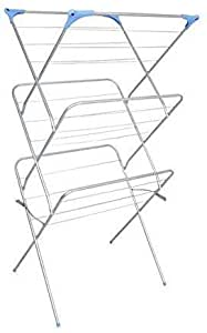 Peng Essentials Arier Cloth Drying Stand/Foldable drying Racks/Rust Proof Cloths Drying Stand (Silver)