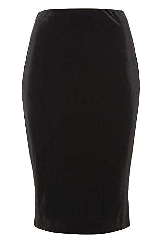 Roman Originals Women's Velvet Pencil Skirt -