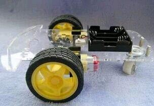Motor Smart Robot Car Chassis Kit Drehzahlgeber Batteriekasten Freies Verschiffen