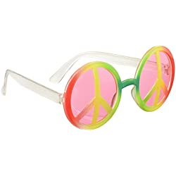Hippie gafas cielo del arco iris para adultos - One Size