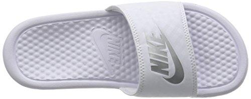 Nike - Benassi Jdi Slide, Sandali da Atletica Donna Multicolore (102 Blanco)