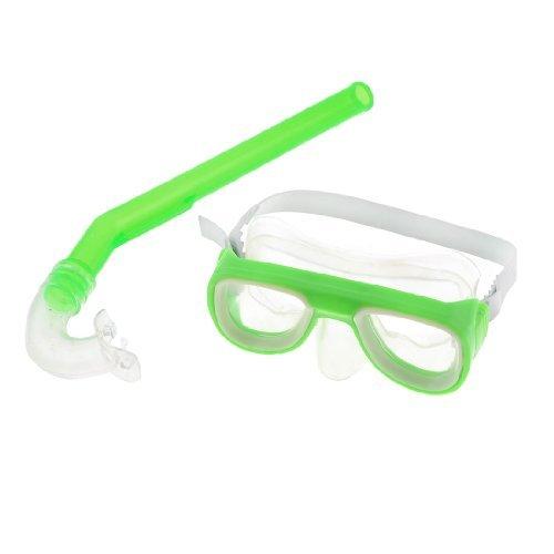 DealMux Kinder Scuba Diving Light Green-Rahmen klare Linse Schwimmbrille