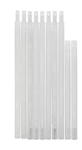 Pickhardt Beschwerungsstab Set aus Kunststoff Zubehör Ersatzteil Fallstab transparent für Raffrollo Gardinen, Stabset Raffrollo:1200 mm (6 St.)