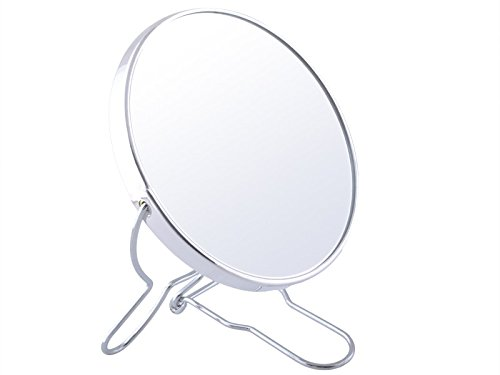 Iso Trade Kosmetikspiegel Badspiegel Vergrößerungsspiegel Rasierspiegel Make up Spiegel Silber #1730