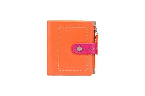 """Visconti portafoglio di pelle da donna a piegatura doppia """"Mimi"""" multicolore (M77): arancione (orange multi)"""