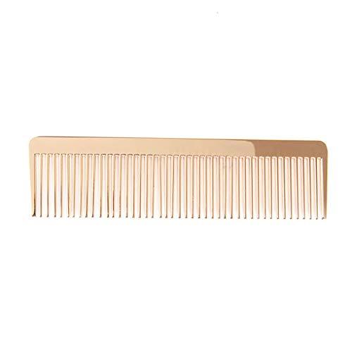 Floridivy Metall feingezahnten Alloy Kamm Goldene Männer Frauen Friseurtaschen Hairbrush 12.4x3.4x0.2cm